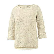 Buy Fat Face Jacquard Jumper, Ivory Online at johnlewis.com