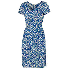 Buy Fat Face Emily Ivy Floral Dress, Dark Chambray Online at johnlewis.com