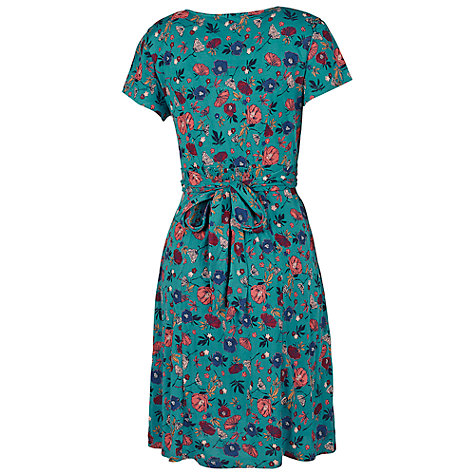Buy Fat Face Emily Peony Floral Dress, Laurel Green Online at johnlewis.com