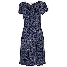 Buy Fat Face Emily Petal Fan Dress, Navy Online at johnlewis.com