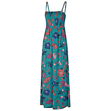 Buy Fat Face Carrick Peony Floral Maxi Dress, Laurel Green Online at johnlewis.com