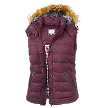 Buy Fat Face Amy Gilet, Bordeaux Online at johnlewis.com