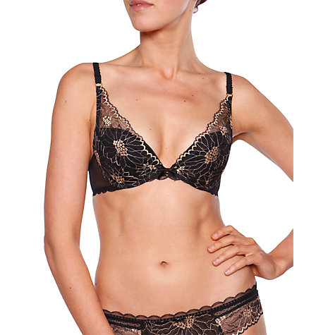 Buy Chantelle Opera Push Up Bra, Black / Gold Online at johnlewis.com