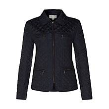 Buy Hobbs Molly Jacket, Navy Online at johnlewis.com