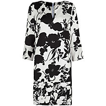 Buy Havren Silhouette Printed Shift Dress, Black/White Online at johnlewis.com