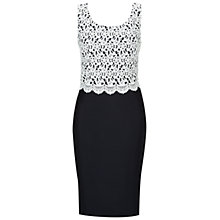 Buy Hobbs Rochester Dress, Navy Ivory Online at johnlewis.com