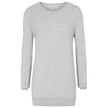 Buy Reiss Edie Stitch Detail Jumper, Silver Online at johnlewis.com