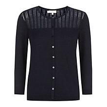 Buy Hobbs Priya Cardigan, Navy Online at johnlewis.com
