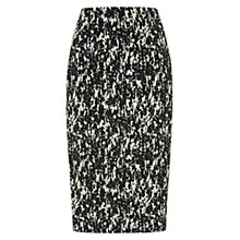 Buy Hobbs Water Print Pencil Skirt, Black Stone Online at johnlewis.com