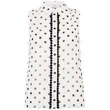 Buy Hobbs Priya Top, Ivory/Navy Online at johnlewis.com