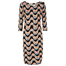 Buy Havren Wiggle Printed Dress, Tangerine/Multi Online at johnlewis.com