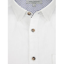 Buy Ted Baker Toscoop Short Sleeve Shirt, White Online at johnlewis.com