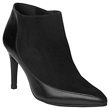Buy L.K. Bennett Amanda Suede Pointed Ankle Boots, Black Online at johnlewis.com