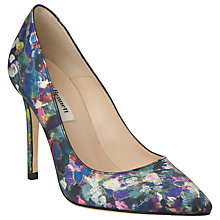 Buy L.K. Bennett Fern Pointed Court Heels, Blue Print Online at johnlewis.com