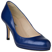 Buy L.K. Bennett Sybila Leather Platform Court Shoes, Ultra Blue Online at johnlewis.com