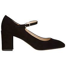 Buy Hobbs Libbie Suede Block Heeled Court Shoes, Black Suede Online at johnlewis.com
