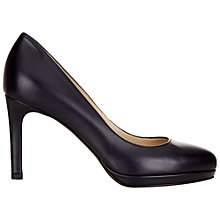 Buy Hobbs Juliet Leather Court Shoes, Navy Online at johnlewis.com