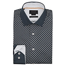 Buy Duchamp Florette Contrast Slim Fit Shirt, Dark Blue Online at johnlewis.com