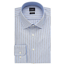 Buy Hackett London Wide End On End Stripe Shirt, Blue/Navy Online at johnlewis.com
