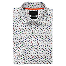 Buy Duchamp Gentleman's Wardrobe Print Shirt, White Online at johnlewis.com