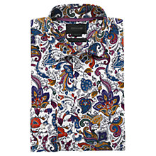Buy Duchamp Neu Paisley Print Shirt, Mid Blue Online at johnlewis.com