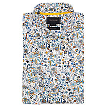 Buy Duchamp Whimsy Floral Print Shirt, Green/Blue Online at johnlewis.com