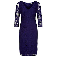 Buy Kaliko Lace Shift Dress, Purple Online at johnlewis.com