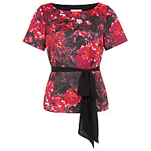 Buy Jacques Vert Hydrangea Belted Blouse, Multi Pink Online at johnlewis.com