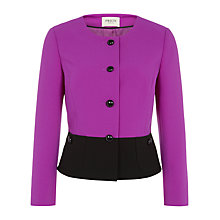 Buy Precis Petite Colour Block Jacket, Berry/Black Online at johnlewis.com