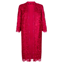 Buy Jacques Vert Luxury Lace Longline Jacket, Scarlet Online at johnlewis.com