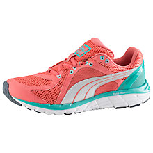 Buy Puma Faas 600 S Women's Running Shoes, Dubarry/Pool Green Online at johnlewis.com