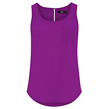 Buy Oasis Plain Pocket Vest, Mid Purple Online at johnlewis.com