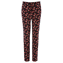 Buy Oasis Fleur Trousers, Black/Multi Online at johnlewis.com