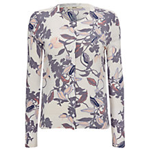 Buy Oasis Painterly Oriental Cardigan, Off White/Multi Online at johnlewis.com