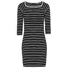 Buy French Connection Tim Tim Stripe Dress, Utility Blue/White Online at johnlewis.com