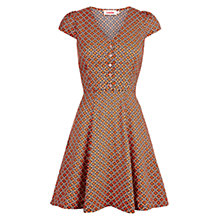 Buy Louche Cathleen Tile Dress, Orange Online at johnlewis.com