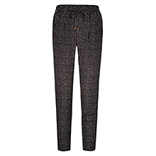 Buy Louche Check Trousers, Black Online at johnlewis.com