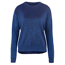 Buy Minimum Adona Lurex Crew Knitted Jumper, Twilight Blue Online at johnlewis.com