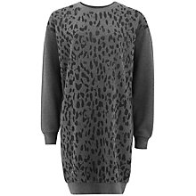 Buy People Tree Emery Animal Print Dress, Grey Melange Online at johnlewis.com