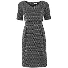 Buy People Tree Tessa V Neck Dress, Black Online at johnlewis.com