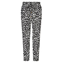 Buy Louche Gatsby Animal Trousers, Black Online at johnlewis.com