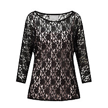 Buy Ghost Liliana Top, Black Online at johnlewis.com
