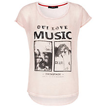 Buy Oui Music T-shirt, Rose Red Online at johnlewis.com