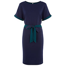 Buy People Tree Mia Double Gauze Dress, Navy Online at johnlewis.com