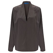 Buy Winser Long Sleeve Silk V-Neck Top, Dark Grey Online at johnlewis.com