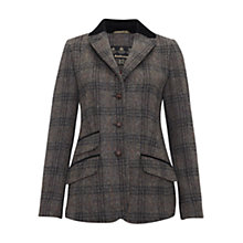 Buy Barbour Harling Tweed Blazer, Charcoal Online at johnlewis.com
