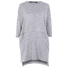 Buy Minimum Alula Sweat Tunic, Light Grey Online at johnlewis.com