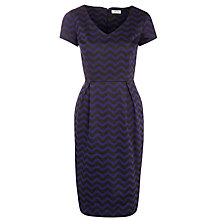 Buy People Tree Elisa Zig Zag Dress, Navy Online at johnlewis.com