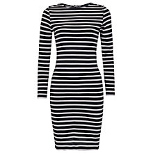 Buy French Connection French Stripe Dress, Utility Blue/Winter White Online at johnlewis.com