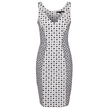 Buy French Connection Modern Mosaic Dress, Winter White/Multi Online at johnlewis.com